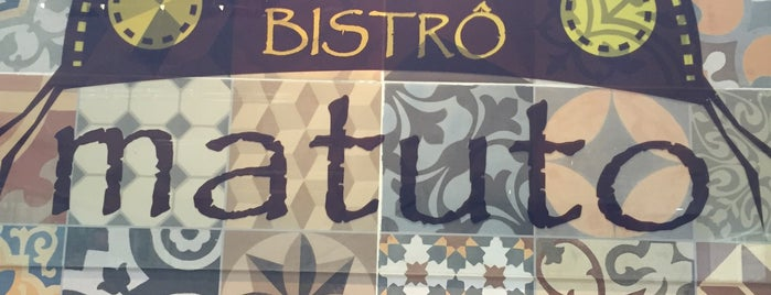 Bistrô Matuto is one of restaurantes.