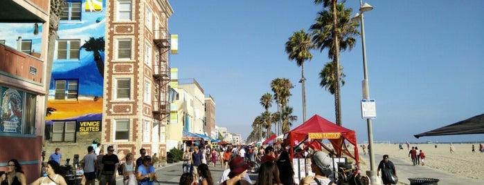 Venice Beach Boardwalk is one of LA Haunts.