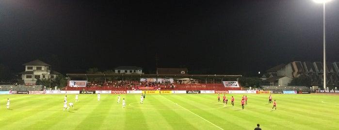 สนามฟุตบอล ศูนย์เยาวชนเฉลิมพระเกียรติ เทศบาลนครนนทบุรี is one of สถานที่ที่ Adriana ถูกใจ.