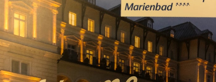 Falkensteiner Hotel Grand Spa Marienbad is one of Orte, die Elena gefallen.