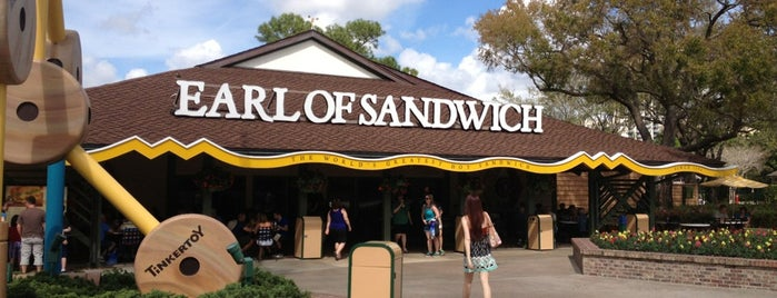 Earl of Sandwich is one of Disney Dining.