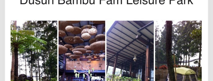 dusun bambu Family Leisure Park is one of My Hometown.