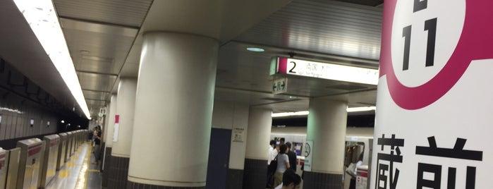 Oedo Line Kuramae Station (E11) is one of Tokyo 2019.