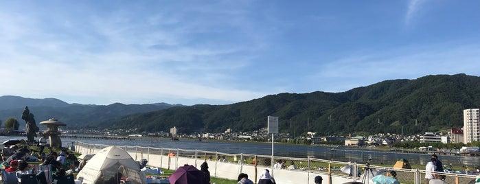 諏訪湖 ふれあい渚 is one of 日本の渚百選.