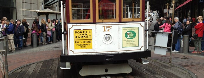 Powell Street Cable Car Turnaround is one of San Francisco Bay.