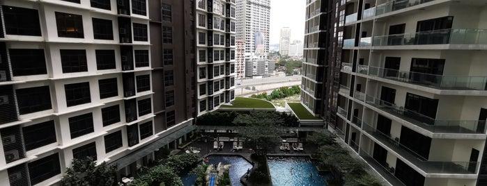 Fraser Residence Kuala Lumpur is one of Locais curtidos por Biel.
