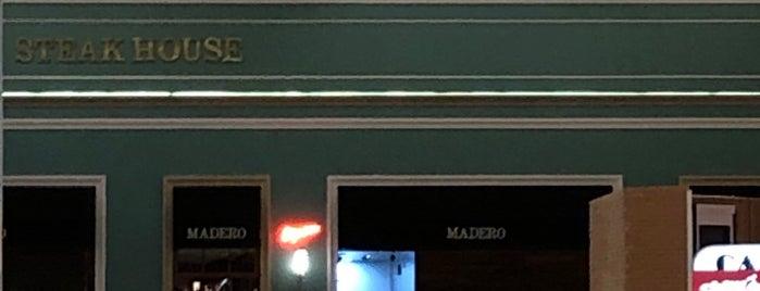 Madero Steak House is one of Orte, die Sergio M. 🇲🇽🇧🇷🇱🇷 gefallen.