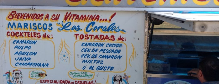 Mariscos Los Corales (lunch truck) is one of OC Tacos.