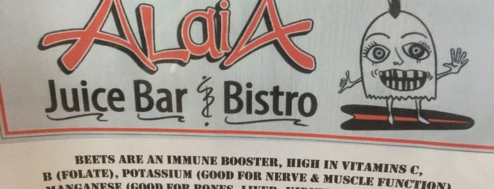 Alaia Juice Bar & Bistro is one of Lugares favoritos de Sarah.