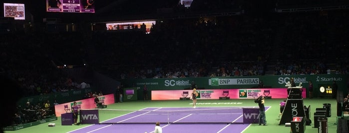 WTA Finals Singapore is one of Lugares favoritos de Chuck.