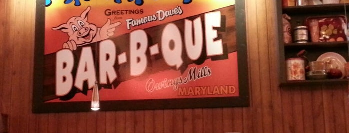 Famous Dave's is one of JODY & MY PLACES IN MD REISTERSTOWN, OWINGS MILLS,.