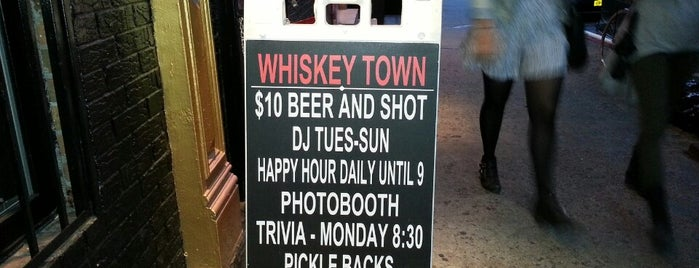 Whiskey Town is one of NYC Trivia Nights.