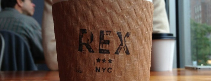 Rex is one of NYC coffee shops to try.