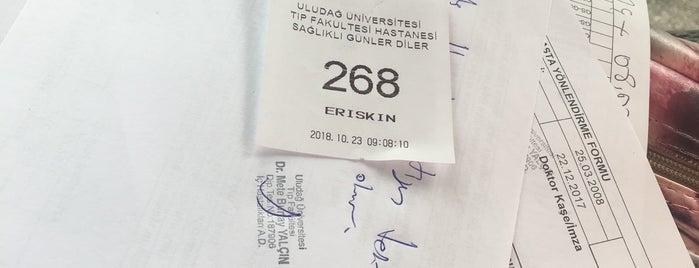 Uludağ Üniversitesi Tıp Fakültesi Allerjik Göğüs Hastalıkları Polikliniği is one of 💥💥sinan💥 : понравившиеся места.