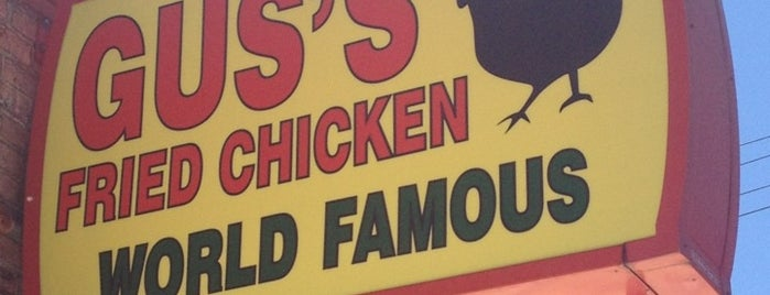 Gus's World Famous Hot & Spicy Fried Chicken is one of X-Country.