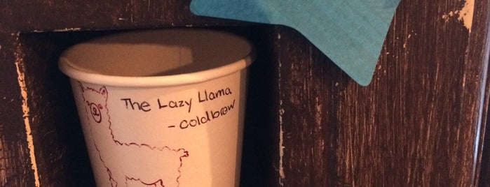 The Lazy Llama Coffee Bar is one of Manhattan cafés.