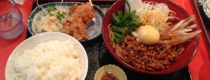 麺厨房 華燕 is one of 汁なし担々麺.