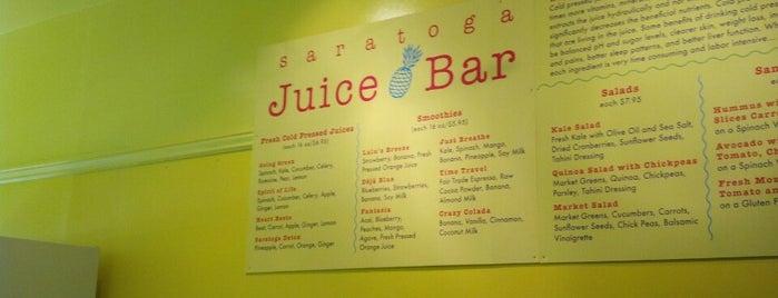 Saratoga Juice Bar is one of Tempat yang Disukai Matt.