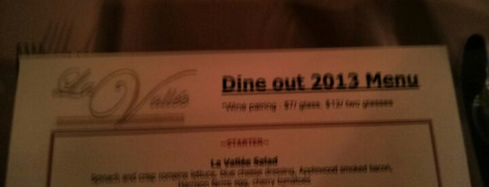 La Valle is one of Dine Out Vancouver Festival 2013.