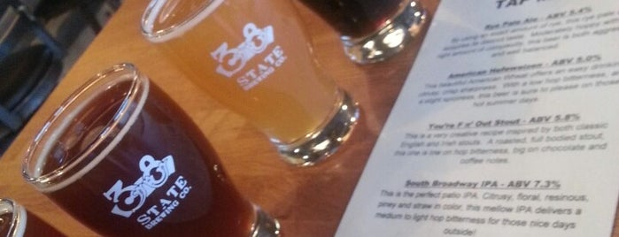 38 State Brewing Company is one of Tempat yang Disukai Marie.