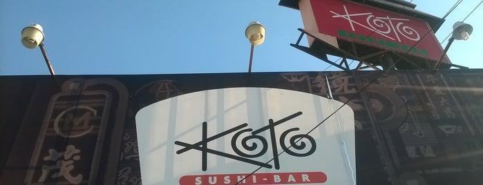 Koto Sushi Bar is one of Lugares favoritos de Pepe.