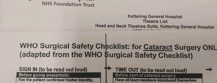 Kettering General Hospital is one of United Kingdom, UK.