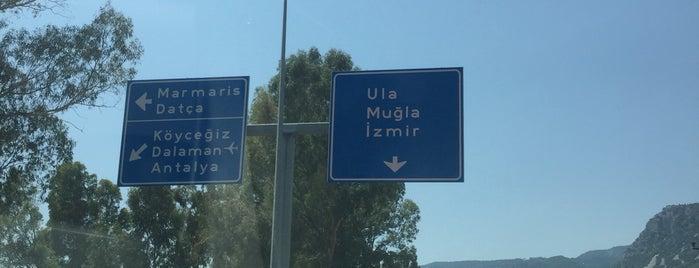 Köyceğiz➡Marmaris Yolu is one of Özgür Yaşar'ın Beğendiği Mekanlar.