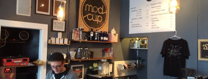 Modcup Cafe is one of Places to go to.