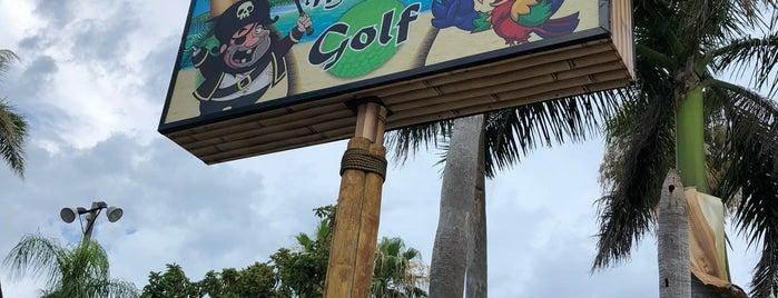 Captain Bligh's Landing Miniature Golf is one of Tempat yang Disukai Wally.