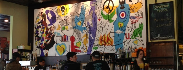 Busboys and Poets is one of D.C. Eats to Try.