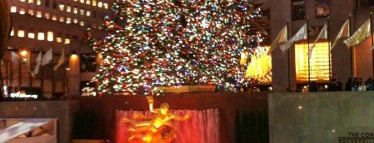 Rockefeller Plaza is one of NY city spots.