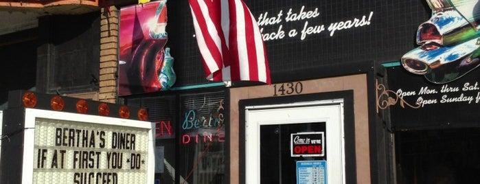 Bertha's Diner is one of Tempat yang Disimpan erica.