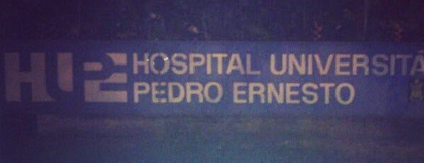 Hospital Universitário Pedro Ernesto (HUPE) is one of Posti che sono piaciuti a Veronica.