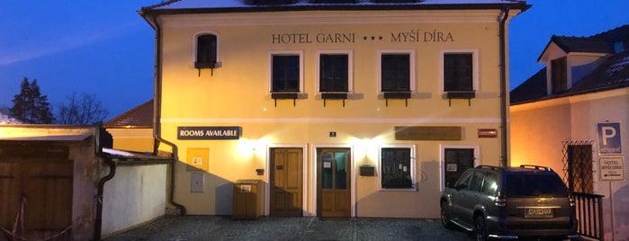 Hotel Garni Myší díra is one of Cesky Krumlov.