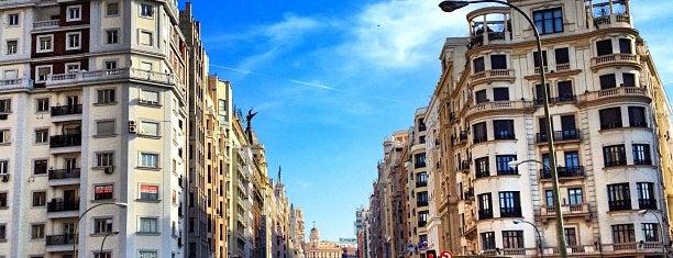 Gran Vía is one of Best of Madrid.