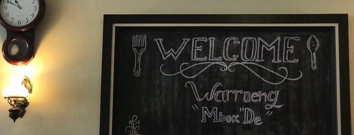 Waroeng Mbok-De is one of Kuliner Bekasi.