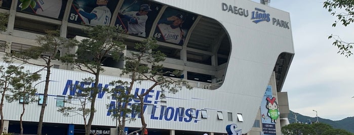Daegu Samsung Lions Park is one of KBO Baseball Stadiums for Triple play badge.