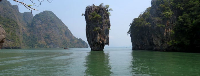 Koh Tapu (James Bond Island) is one of Andaman Coast.