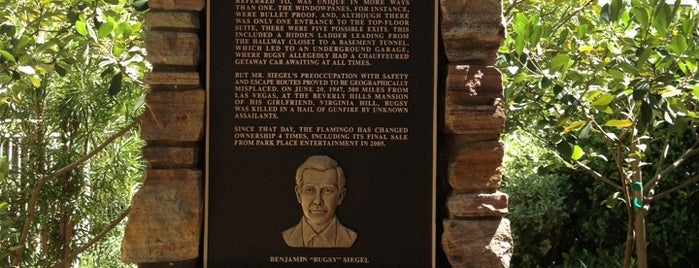Bugsy Siegel Memorial is one of Lost Wages.