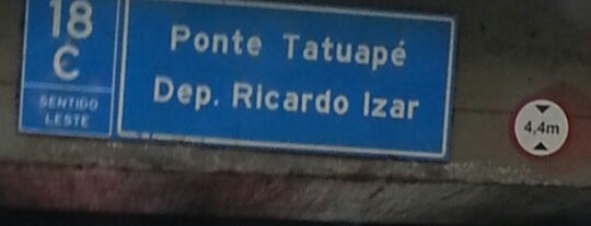 Ponte do Tatuapé is one of Tempat yang Disukai Alberto J S.