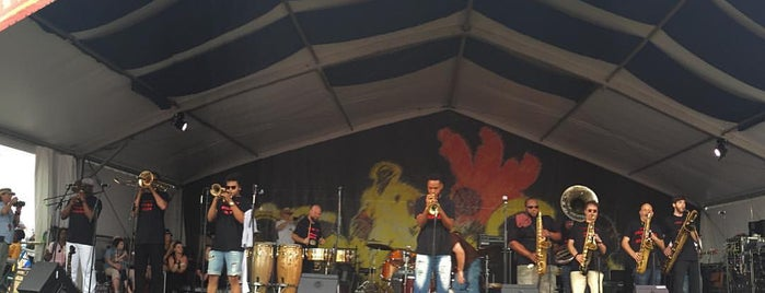 Jazz Fest Heritage Stage is one of Tempat yang Disukai Julianna.