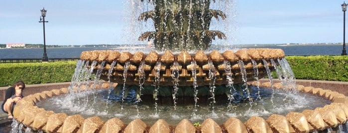 The Pineapple Fountain is one of Charleston, SC.