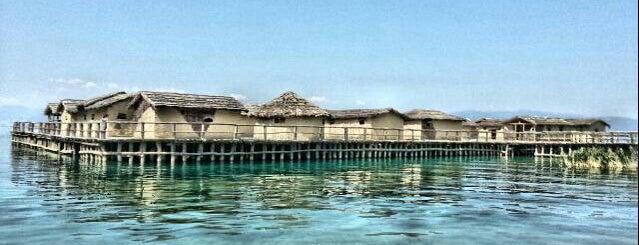 Заливот На Коските (Музеј на вода) / Bay of Bones (Museum on Water) is one of Ohrid.