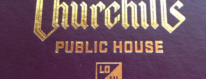 Churchill's Public House is one of Lugares favoritos de Cosmic Donuts.