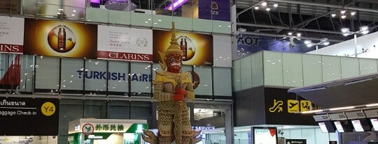 Bandar Udara Suvarnabhumi (BKK) is one of Tempat yang Disukai George.