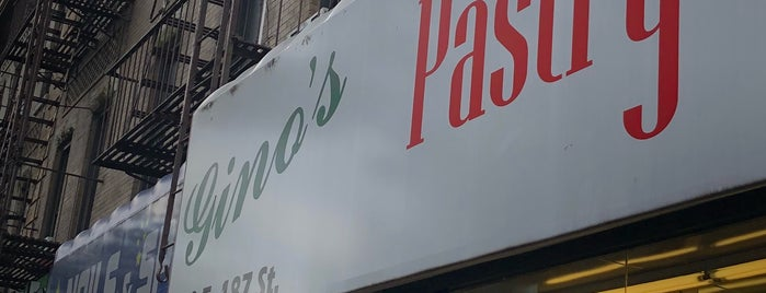 Gino's Pastry Shop is one of NYC's Best Cafés&Pastries 🍰🍮🍪☕️.