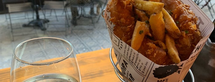 The Fish & Chips Shop is one of BCN Eats.