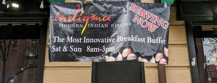 Indigma Modern Indian Bistro is one of Jonathanさんのお気に入りスポット.