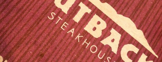 Outback Steakhouse is one of Usuals.