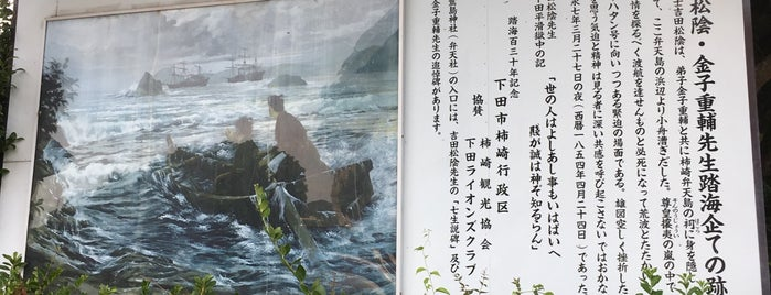 吉田松陰・金子重輔先生踏海企ての跡 is one of 伊豆.